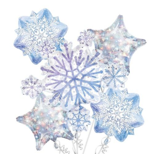 Snowflake Balloon Bouquet, 5-pc