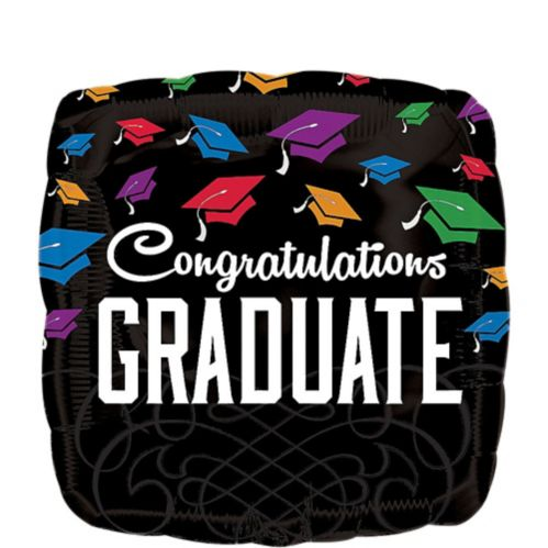 Graduation Square Congratulations Balloon, 17-in Product image