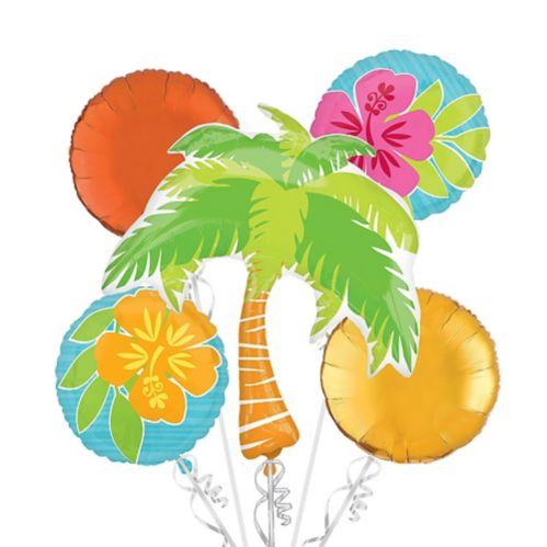 Bouquet de ballons tropicaux Tiki, paq. 5