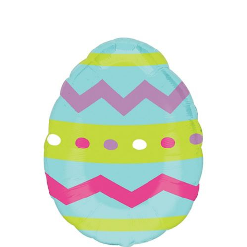 Striped Easter Egg Balloon, 18-in