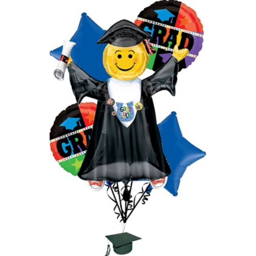 Bright Grad Graduation Balloon Bouquet, 6-pc