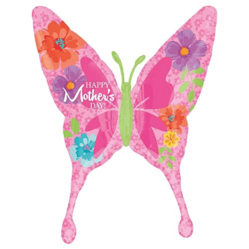 Giant Mother's Day Butterfly Balloon, 37-in