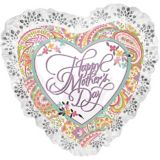 Giant Lace & Floral Mother's Day Heart Balloon, 28-in | Amscannull