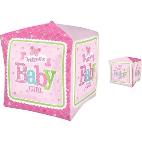 Cubez Welcome Little One Girl Welcome Baby Balloon Product image