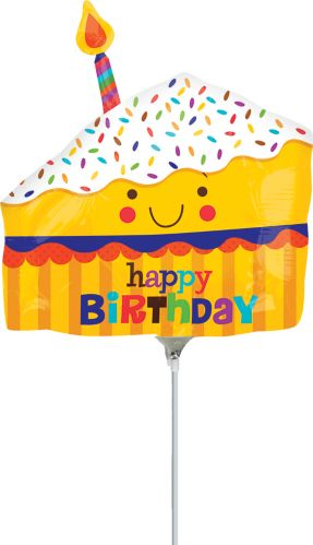 Happy Slice of Cake Air-Filled Mini Shape Balloon