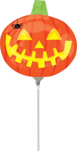 Pumpkin with Spider Air-Filled Mini Shape Balloon Product image