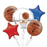 Spalding NBA Balloon Bouquet, 5-pc | Amscannull