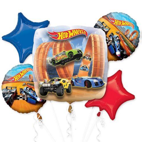 Hot Wheels Balloon Bouquet, 5-pc
