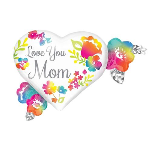 Ballon fleurs d'hibiscus, Love You Mom, 27 po Image de l'article