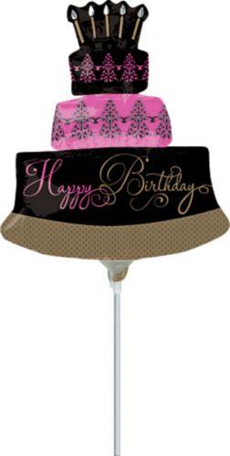 Fabulous Celebration Cake Air-Filled Mini Shape Balloon