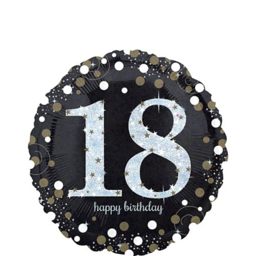 Sparkling Celebration 18th Birthday Balloon, 18-in
