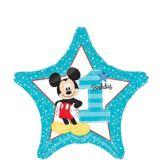 1st Birthday Mickey Mouse Star Balloon | Amscannull