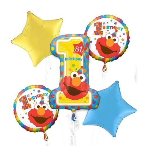 Sesame Street Balloon Bouquet, 5-pc
