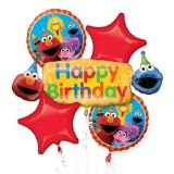 Sesame Street Birthday Balloon Bouquet, 5-pc | Amscannull