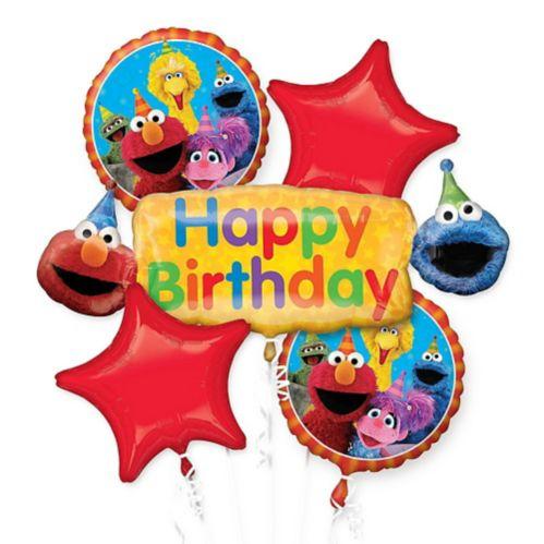 Bouquet de ballons d'anniversaire Sesame Street, paq. 5 Image de l'article