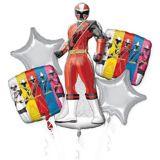 Bouquet de ballons, Ranger rouge, Power Rangers Ninja Steel, paq. 5 | Amscannull