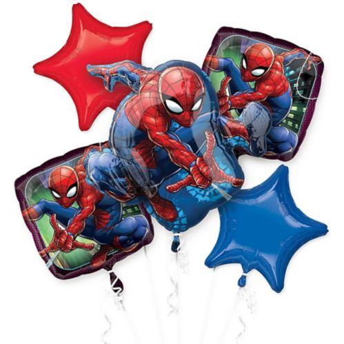 Bouquet de ballons, toile merveilleuse de Spider-Man, paq. 5