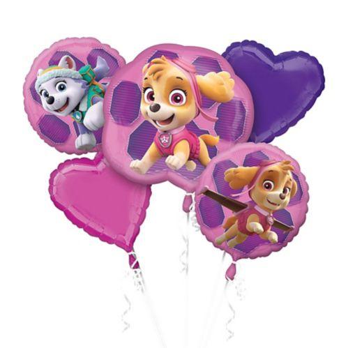 Bouquet de ballons Pat'Patrouille, rose, paq. 5 Image de l'article