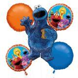 Bouquet de ballons, Macaron de Sesame Street, paq. 5 | Amscannull