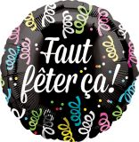Faut Fêter Ça Balloon, 17-in   Amscannull