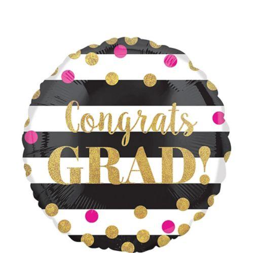Prismatic Confetti Graduation Balloon, 18-in Product image