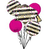 Giant Prismatic Confetti Graduation Balloon Bouquet with Balloon Weight, 6-pc | Amscannull