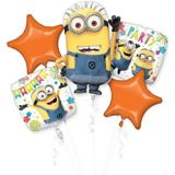 Despicable Me Minions Balloon Bouquet, 5-pc | Amscannull