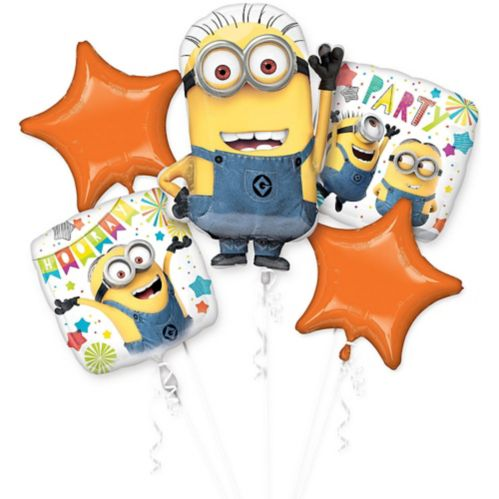 Despicable Me Minions Balloon Bouquet, 5-pc