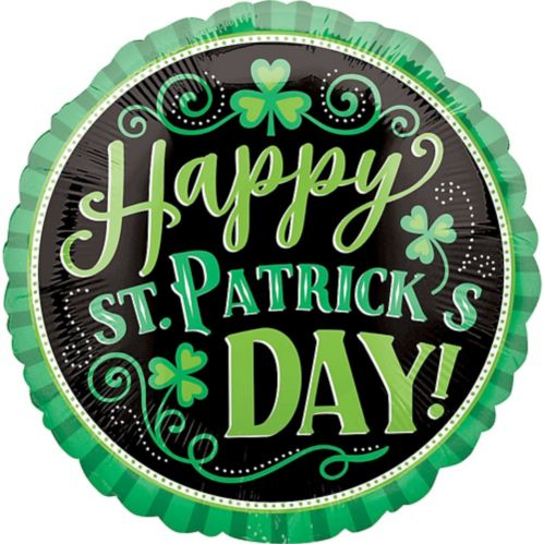 Happy St. Patrick's Day Balloon, 18-in