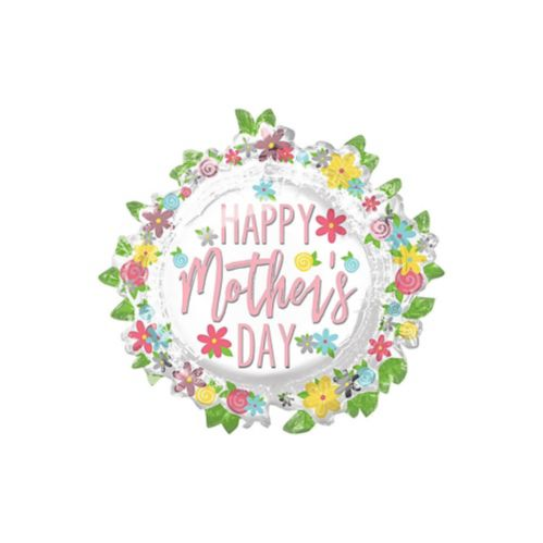 Giant Flowers Happy Mother's Day Balloon, 30-in
