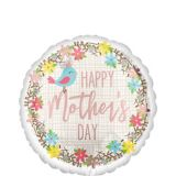 Bird & Flowers Mother's Day Balloon, 17-in | Amscannull