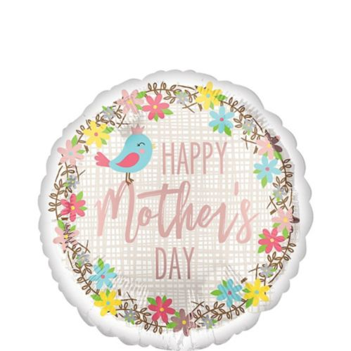 Bird & Flowers Mother's Day Balloon, 17-in