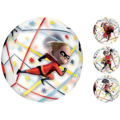 The Incredibles See Thru Orbz Balloon, 16-in