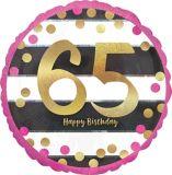 Ballon 969 pour 65e anniversaire, rose et doré | Amscannull