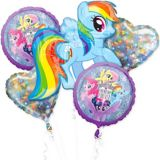 Prismatic My Little Pony Balloon Bouquet, 5-pc | Amscannull