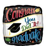 Colourful Congrats Graduate Balloon, 17-in | Amscannull
