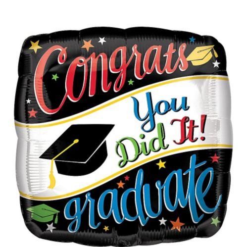 Colourful Congrats Graduate Balloon, 17-in