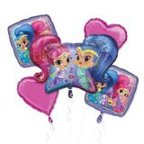 Shimmer & Shine Balloon Bouquet, 5-pc