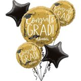 The Adventure Begins Balloon Bouquet, Gold, 6-pc | Amscannull