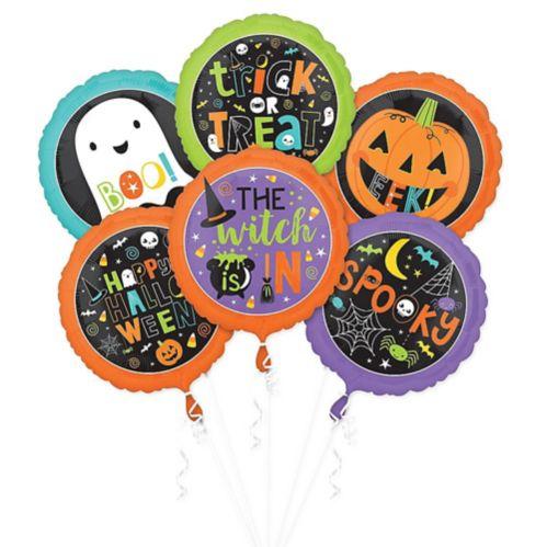 Halloween Friends Balloons, 6-pk