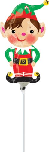 Jolly Christmas Elf Air-Filled Mini Shape Balloon Product image
