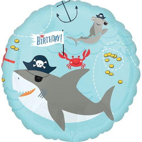 Ballon d'anniversaire, thème nautique, Ahoy