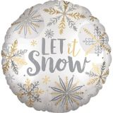 Let It Snow Balloon, 18-in | Amscannull