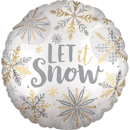 Let It Snow Balloon, 18-in