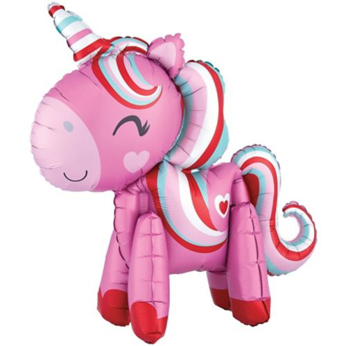 Air-Filled Magical Love Unicorn Balloon, 22-in