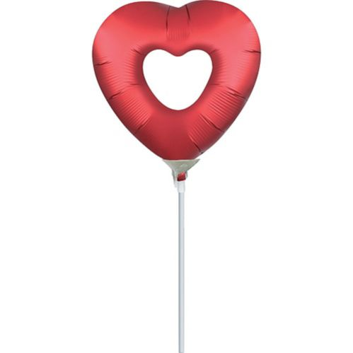 SatinLuxe Heart Air-Filled Mini Shape Balloon