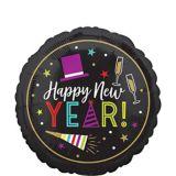 Ballon Happy New Year coloré, 17 po | Amscannull