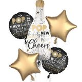 Champagne Bottle New Year's Eve Balloon Bouquet, 5-pc | Amscannull