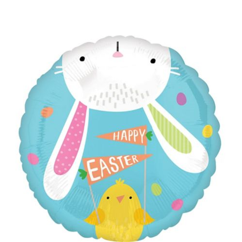Hello Bunny Easter Balloon, 17-in