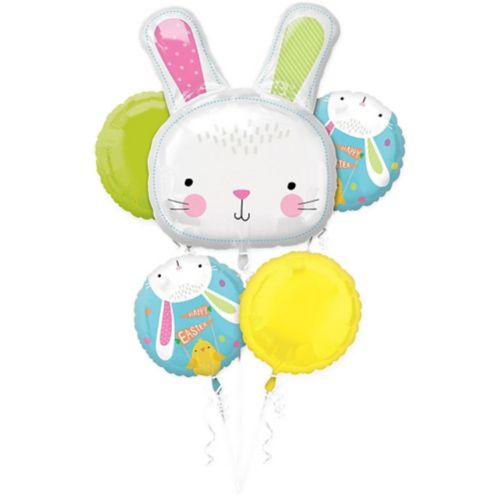 Hello Bunny Balloon Bouquet, 5-pc